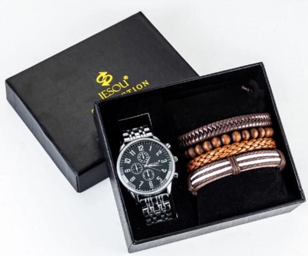 Geschenkset Box Uhr Armband für Männer