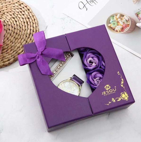Geschenkset Box mit Uhr und Armband für Sie