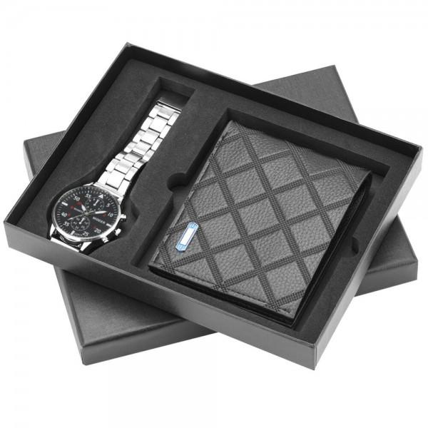 Geschenkset Box Uhr Portemonnaie Herren