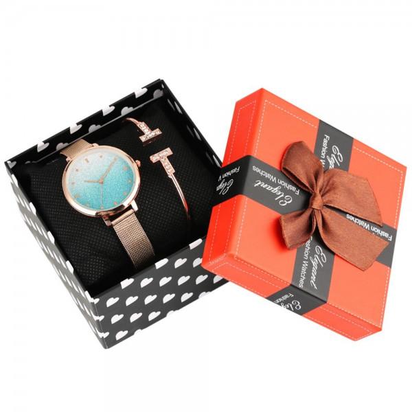 Uhr und Armband mit Geschenkbox für Frauen