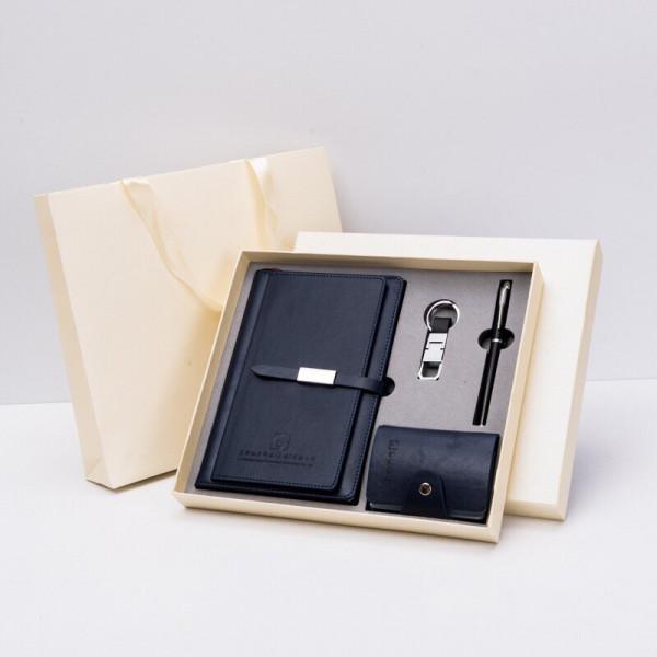 Geschenkset Box Notizblock Schreiber Kartenetui Schlüsselanhänger