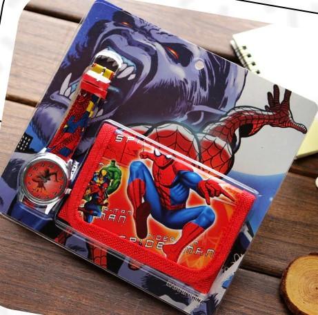Geschenkset mit Portemonnaie und Uhr für Kinder